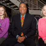 Community Services Minister Tony Ince & two kids who care